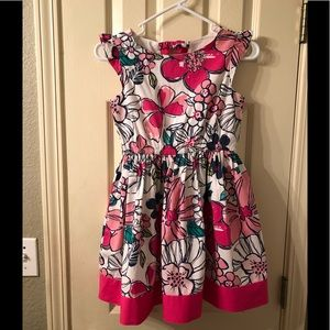 Gymboree Pink Floral Dress Girls Size 10.
